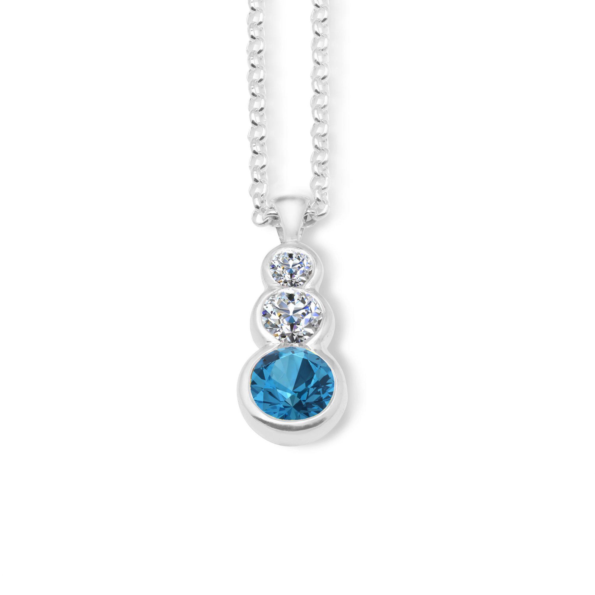 Liquid light 3 stone pendant blue mjj liquid light 3 stone pendant blue aloadofball Choice Image