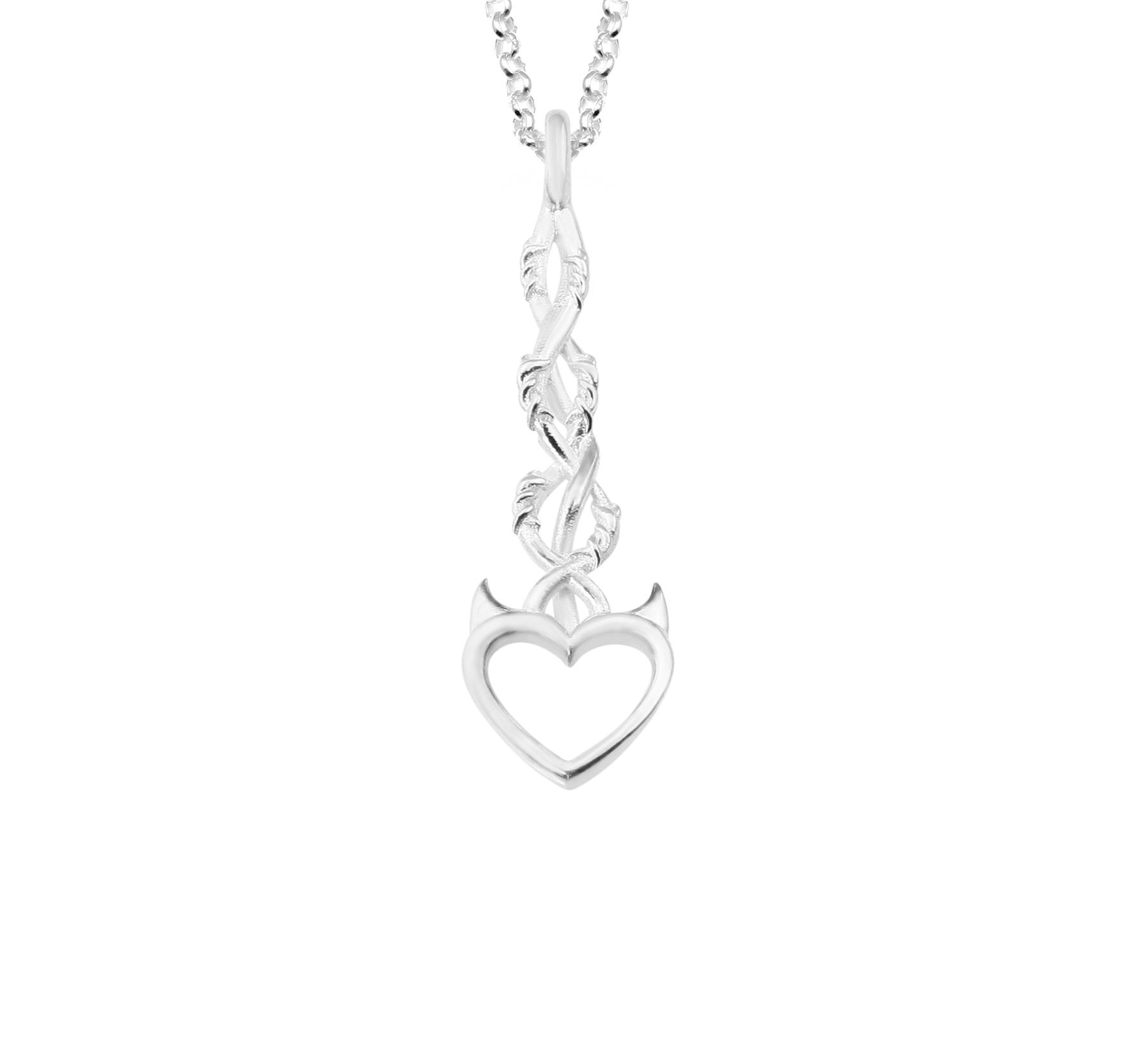 Barb wire heart pendant – MJJ