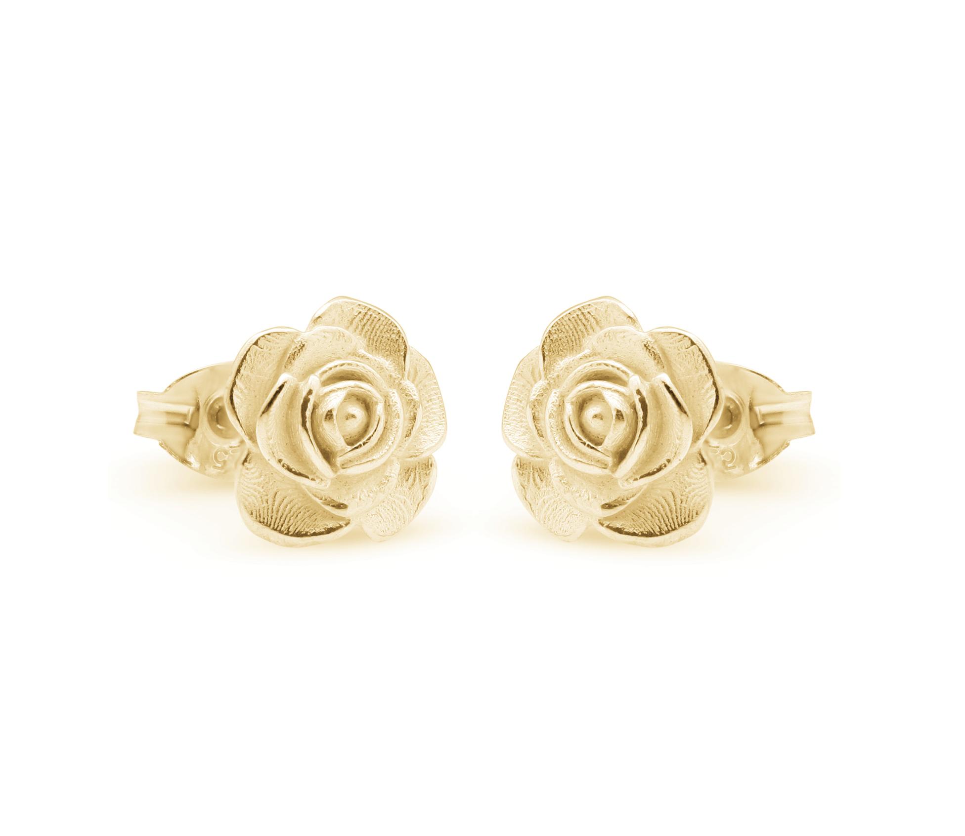 ed374aa69 Rose Stud Earrings 9ct yellow gold | MICHAELJOHN - Fine Jewellery Matakana